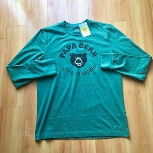 6276b5a1bcc Life Is Good Shirts - LIFE IS GOOD Papa Bear Long-sleeve T-Shirt